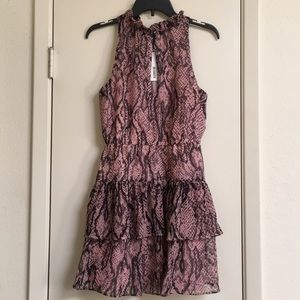 NWT BB DAKOTA Snake Print Dress